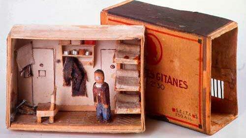 Cellule réalisée dans une boite d'allumettes réalisée par un résistant incarcéré à la prison de la santé vers 1940