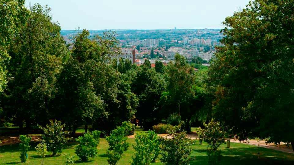 Vue du parc Montreau à Montreuil