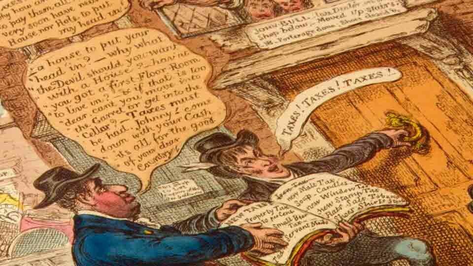 Caricature anglaise du 19e siècle